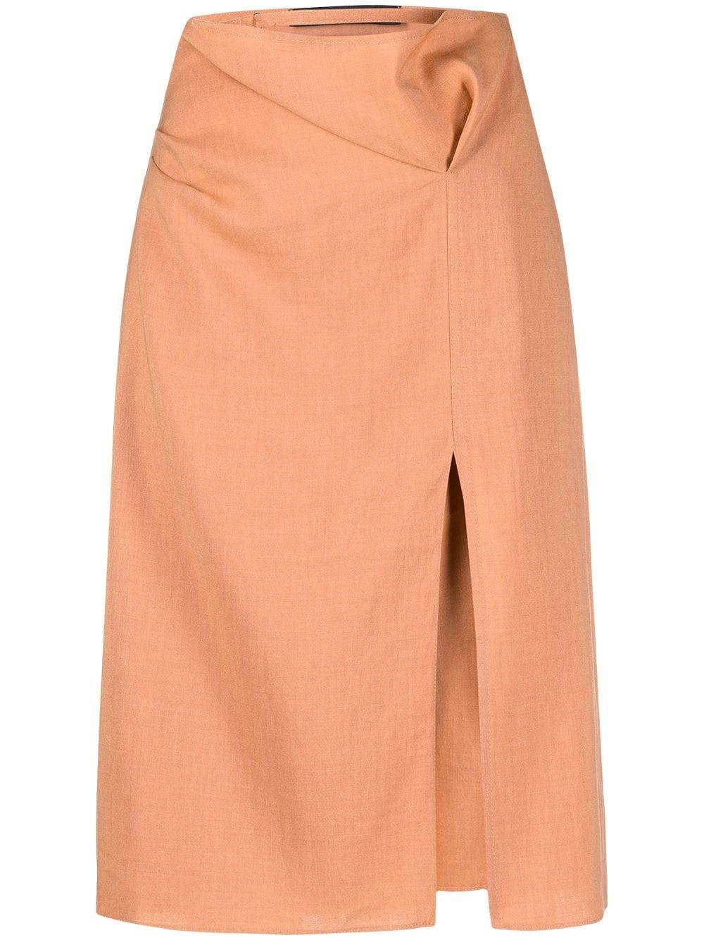 <p class='small-title'>JACQUEMUS</p>La Jupe Drap Miniskirt