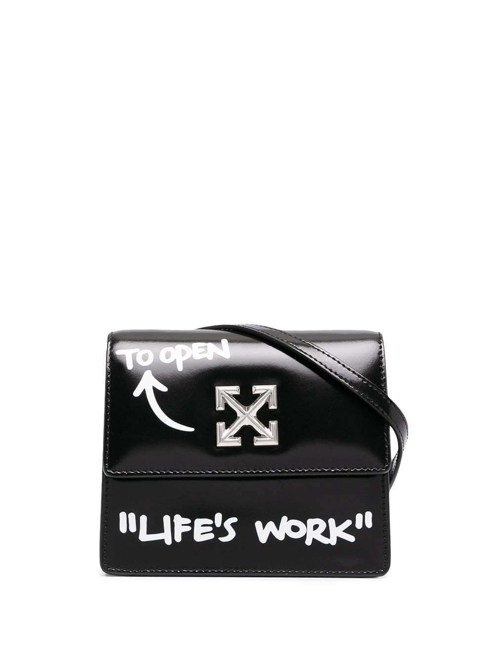 <p class='small-title'>OFF WHITE</p>0.7 Quote Jitney Shoulder Bag