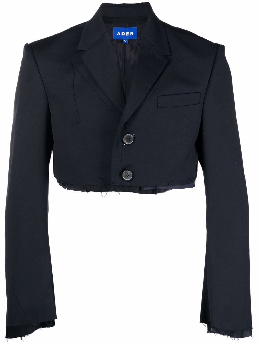 <p class='small-title'>ADER ERROR</p>Cropped Raw-Cut Blazer