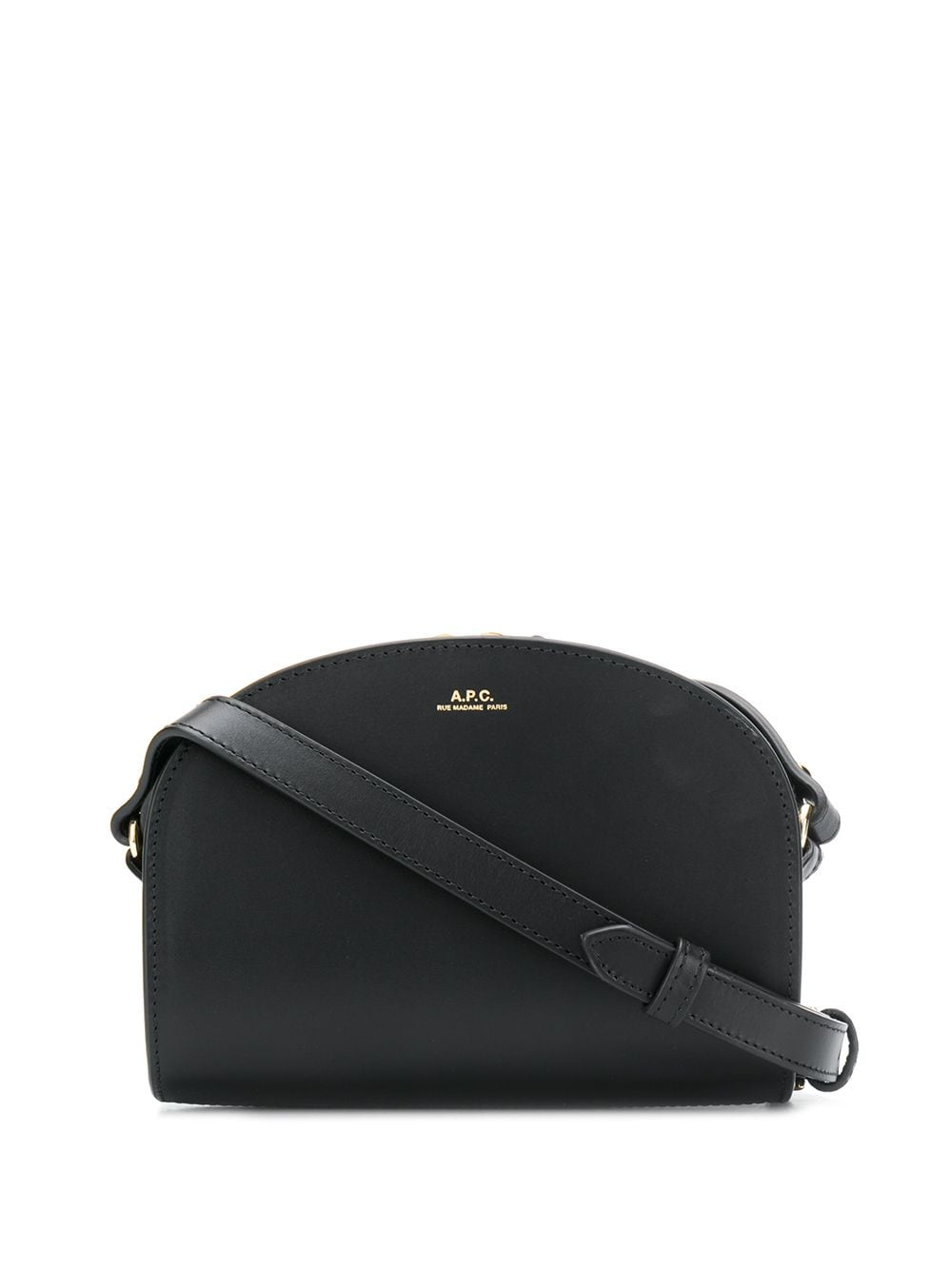 <p class='small-title'>A.P.C.</p>Round-Top Crossbody Bag