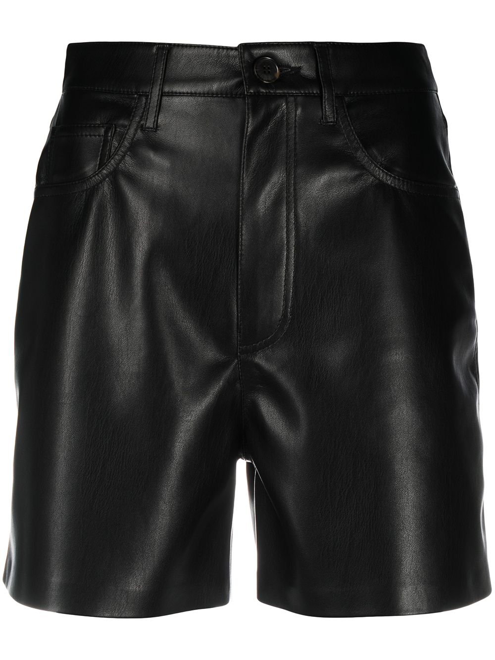 <p class='small-title'>NANUSHKA</p>Faux Leather Shorts