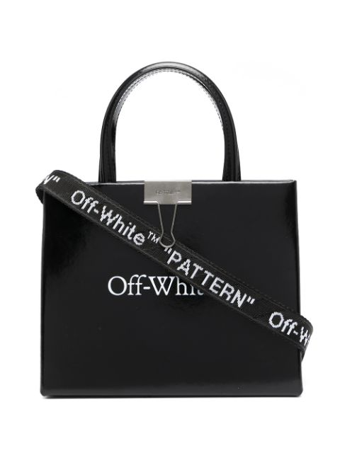 <p class='small-title'>OFF WHITE</p>Mini Logo-Print Box Bag