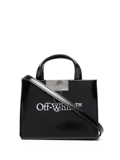 <p class='small-title'>OFF WHITE</p>Baby Box Logo-Print Mini Bag