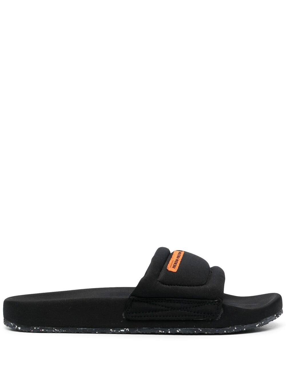 <p class='small-title'>HERON PRESTON</p>Logo Patch Flat Slides