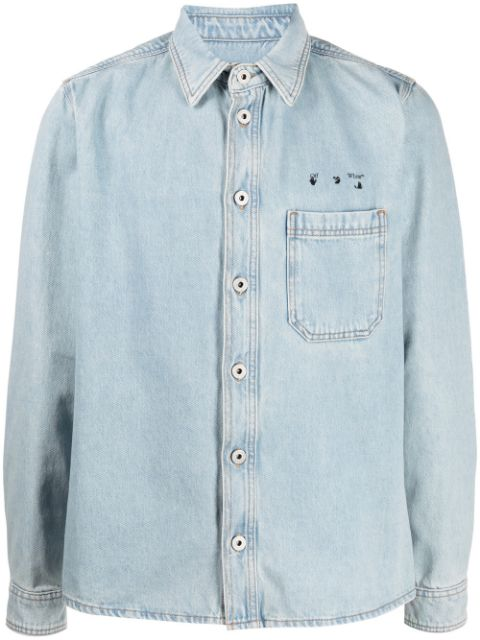 <p class='small-title'>OFF WHITE</p>Denim Shirt