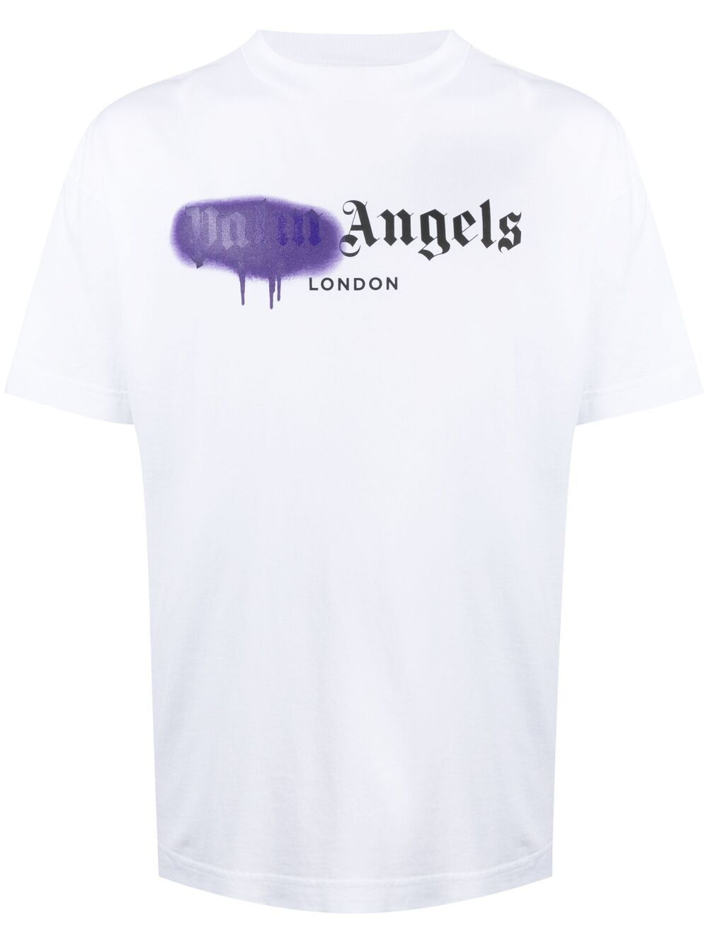 <p class='small-title'>PALM ANGELS</p>Spray Paint Print T-Shirt