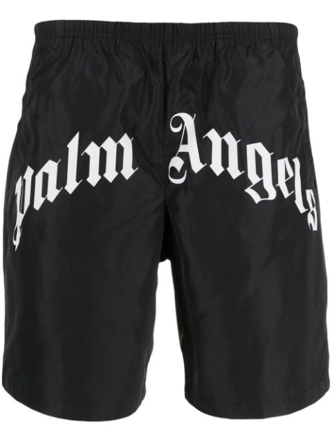 <p class='small-title'>PALM ANGELS</p>Logo Print Swimming Shorts