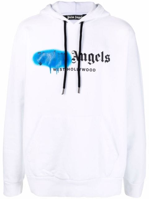 <p class='small-title'>PALM ANGELS</p>West Hollywood Sprayed Logo Hoodie