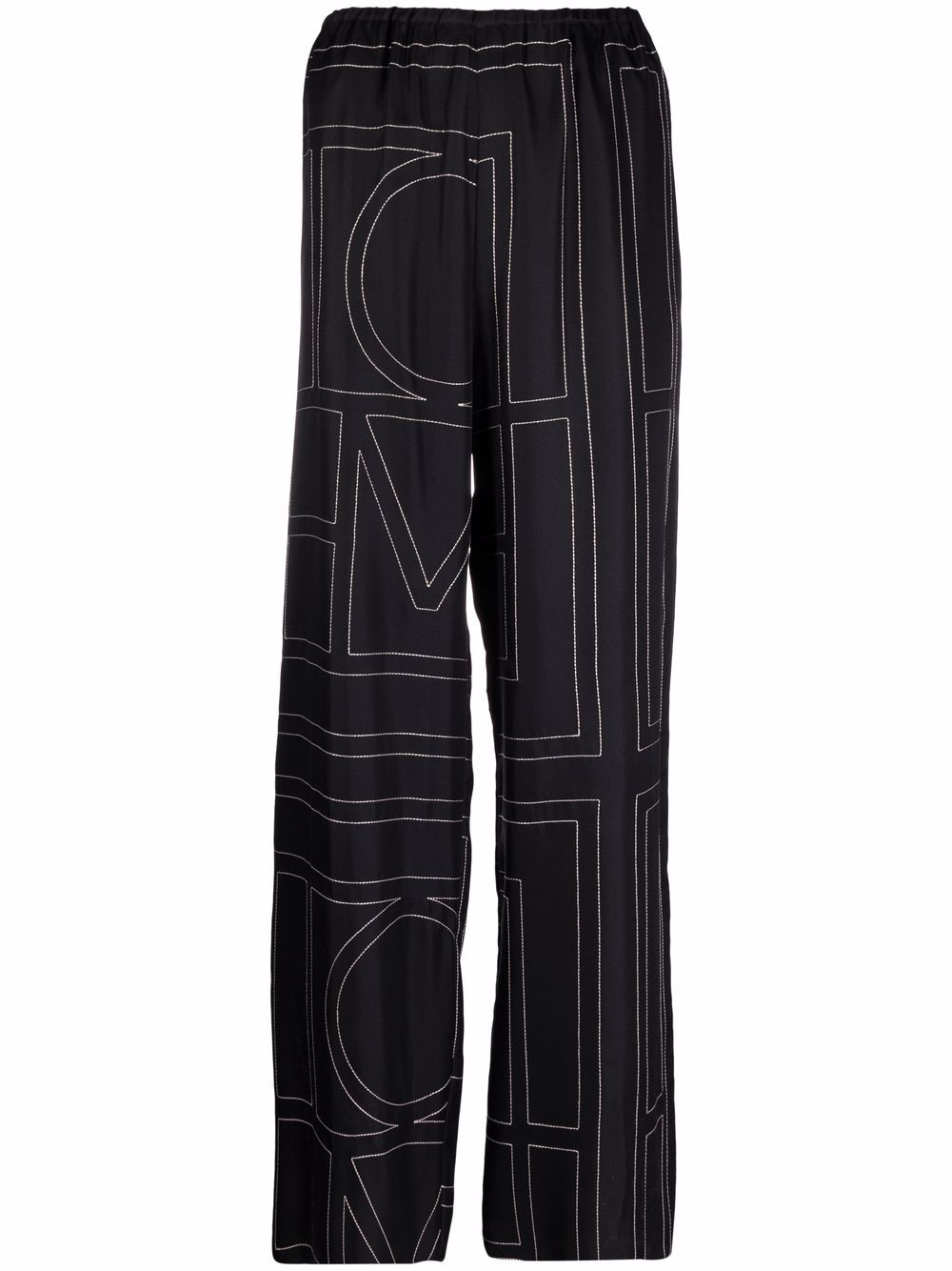 <p class='small-title'>TOTEME</p>Monogram Silk Pyjama Bottoms
