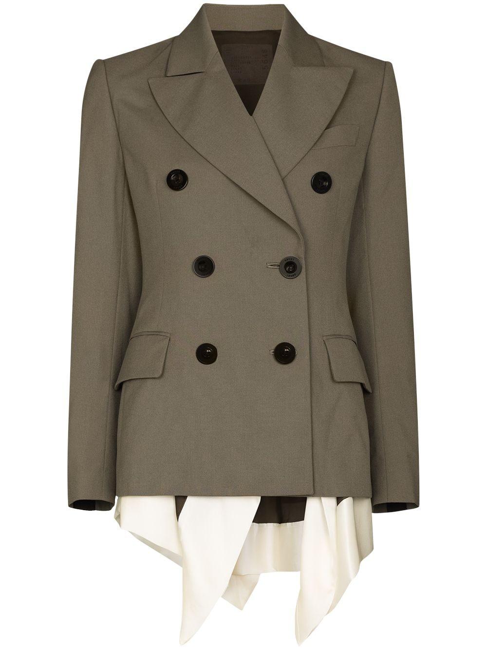 <p class='small-title'>SACAI</p>Double-breasted blazer