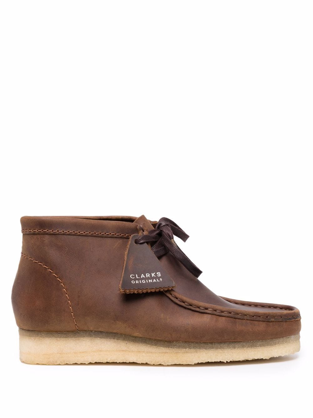 <p class='small-title'>CLARKS ORIGINALS</p>Wallabee Boot Leather Brown