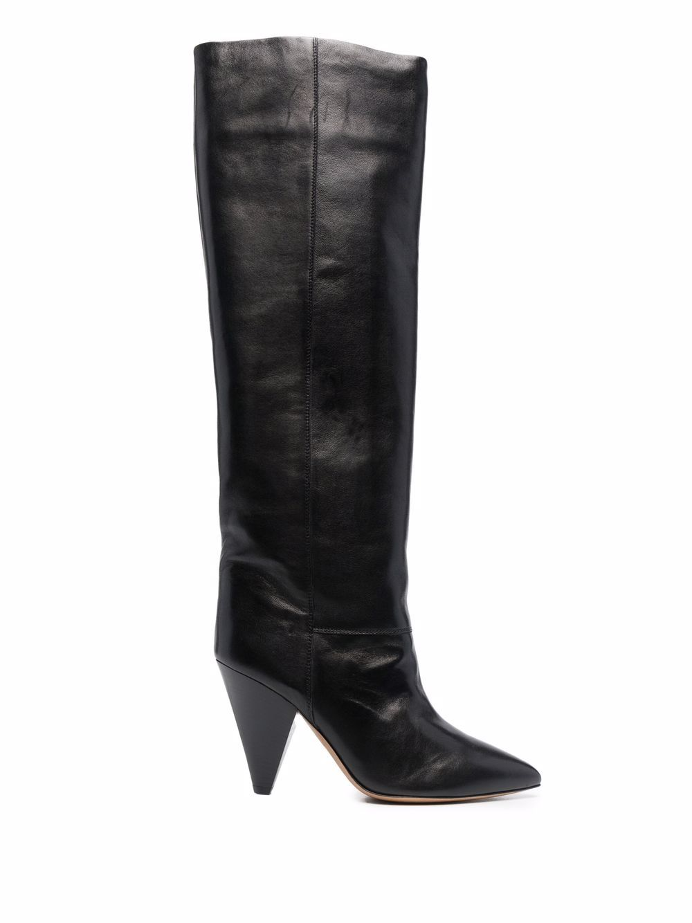 <p class='small-title'>ISABEL MARANT</p>Leather Thigh-High Boots