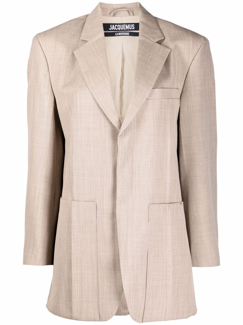 <p class='small-title'>JACQUEMUS</p>Blazer with wide oversized sleeves