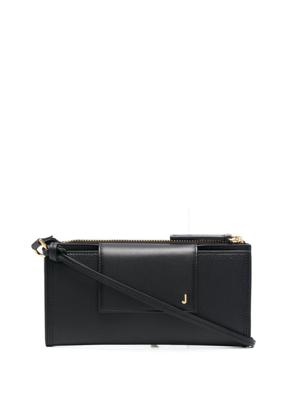 """<p class='small-title'>JACQUEMUS</p>""""Pouch Le Pichoto"""" Bag Leather Black"""