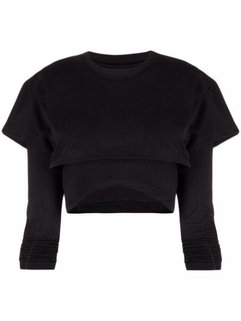 <p class='small-title'>JACQUEMUS</p>Le double t-shirt Black