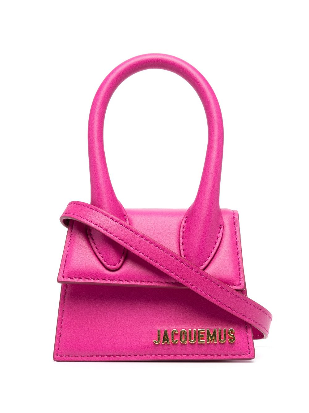 """<p class='small-title'>JACQUEMUS</p>""""Le Chiquito"""" leather Pink mini bag"""