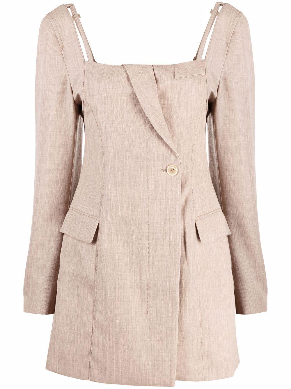 "<p class='small-title'>JACQUEMUS</p>""La robe Maniu"" Mini tailored dress"