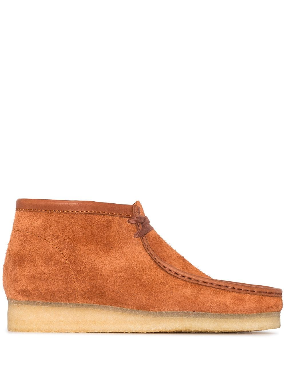 <p class='small-title'>CLARKS ORIGINALS</p>Wallabee Boot Suede Tan Hairy M