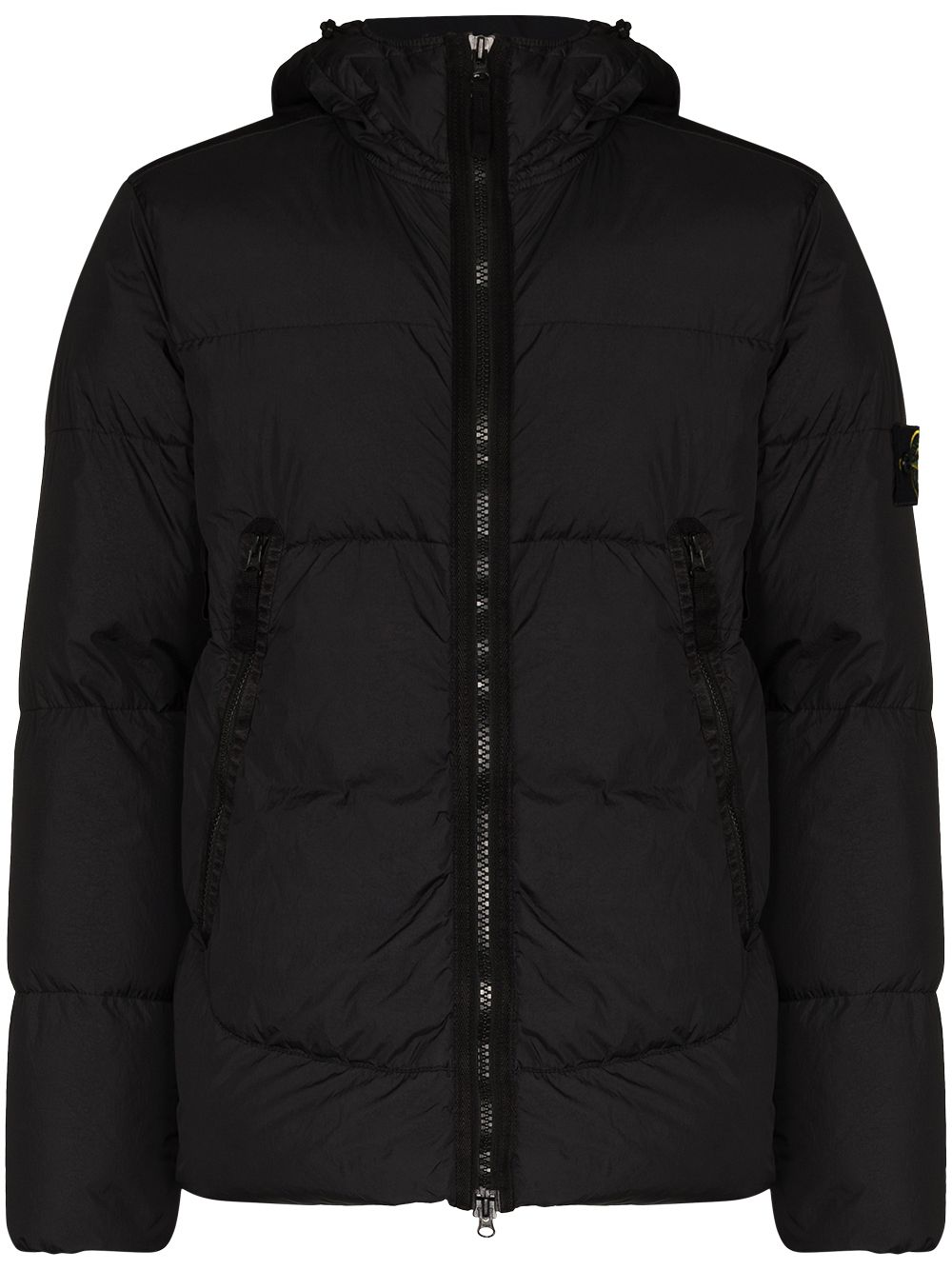 <p class='small-title'>STONE ISLAND</p>Padded Hooded Jacket