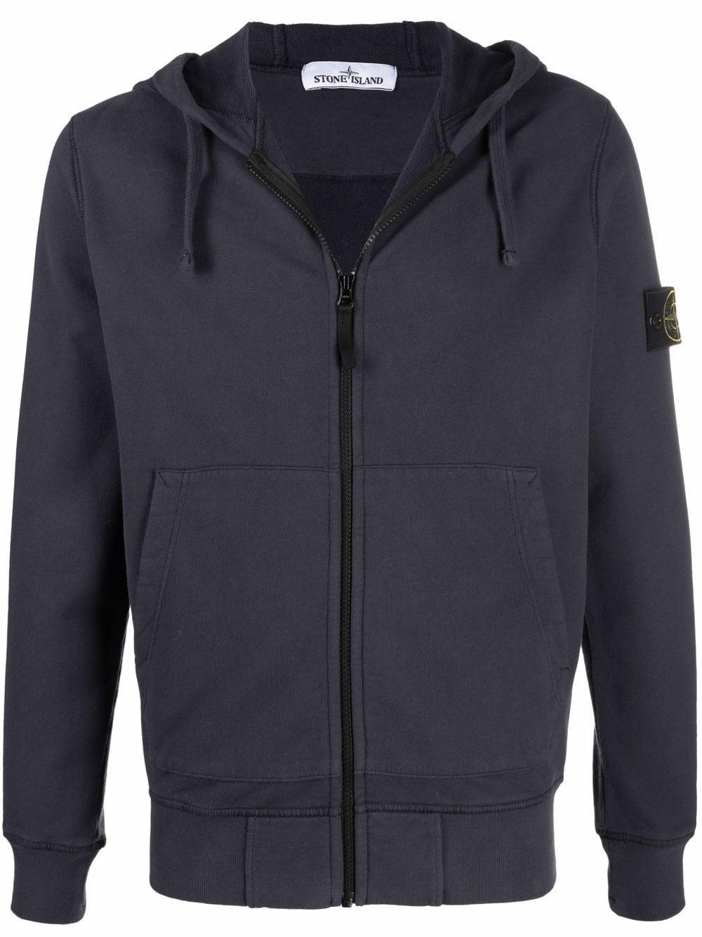 <p class='small-title'>STONE ISLAND</p>Zip-Up Sweatshirt