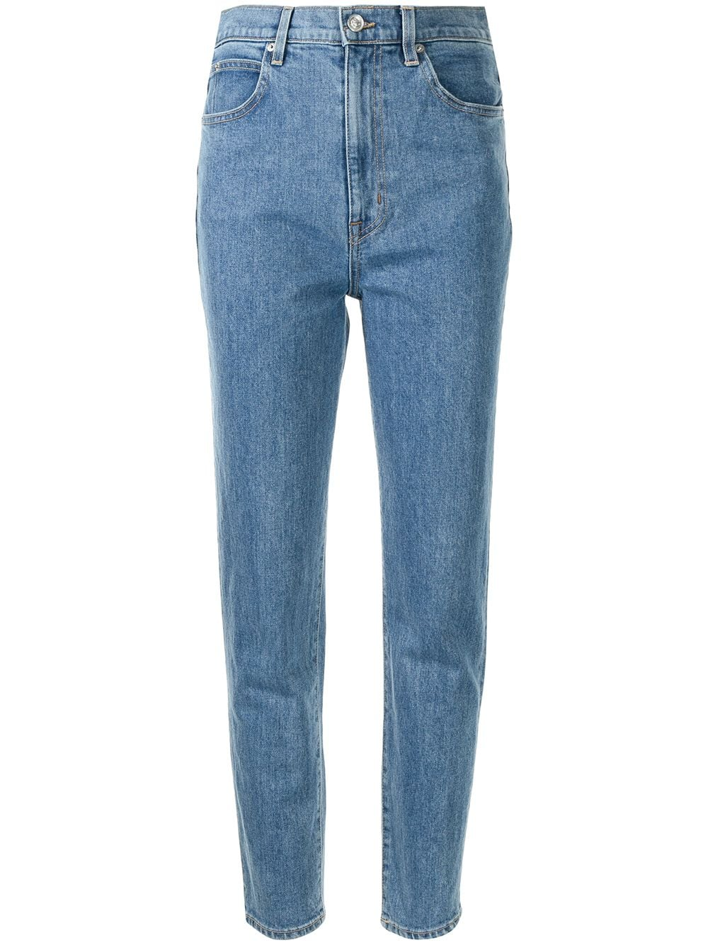 <p class='small-title'>SLVRLAKE</p>Straight Leg Cropped Jeans