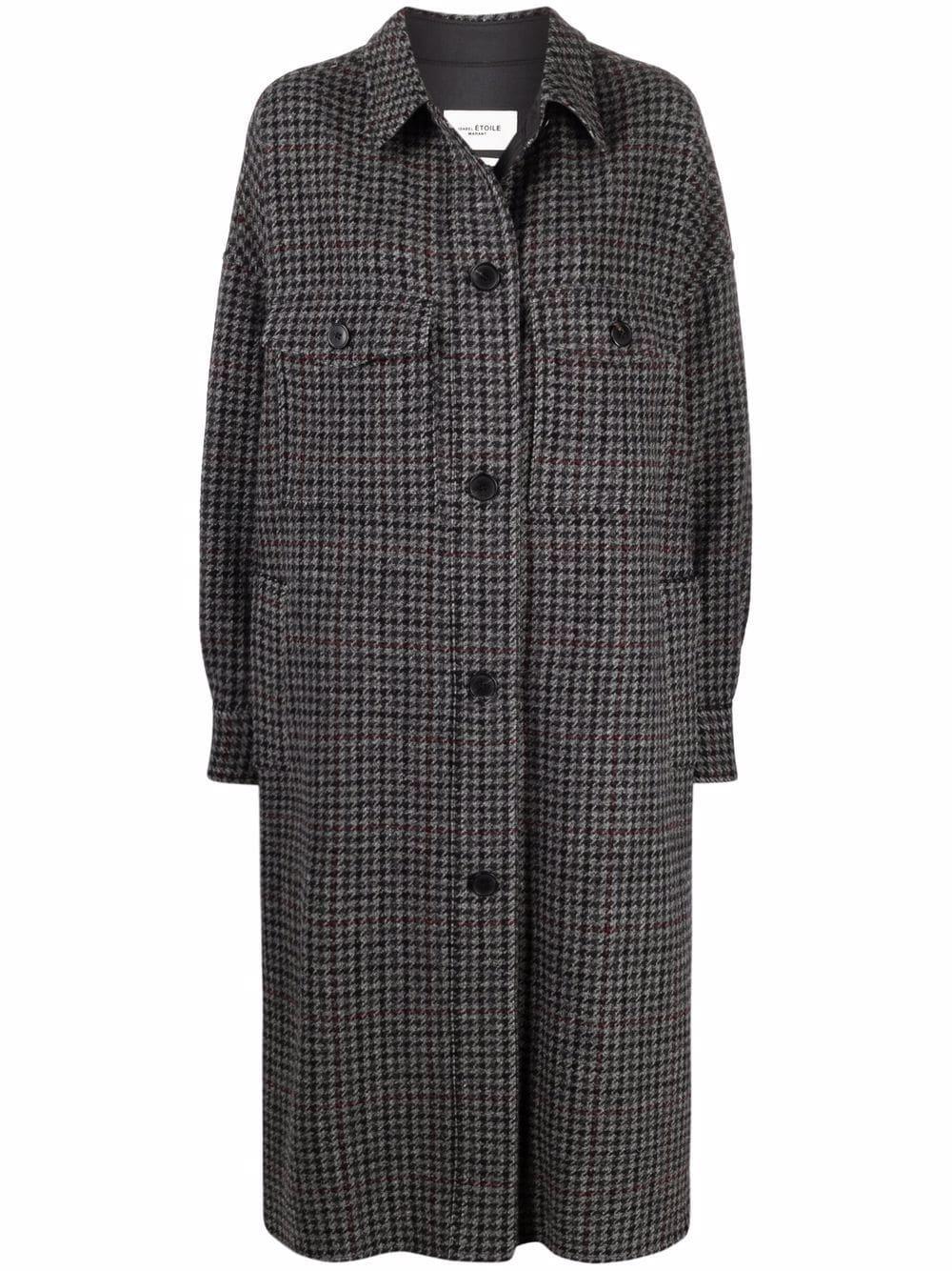 <p class='small-title'>ISABEL MARANT ÉTOILE</p>Check Button-Down Coat
