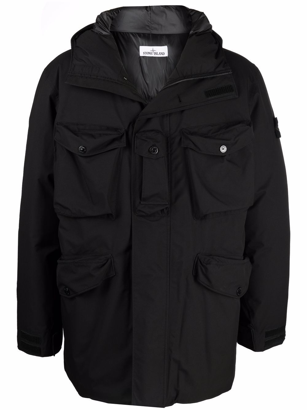 <p class='small-title'>STONE ISLAND</p>Patch-Padded Coat