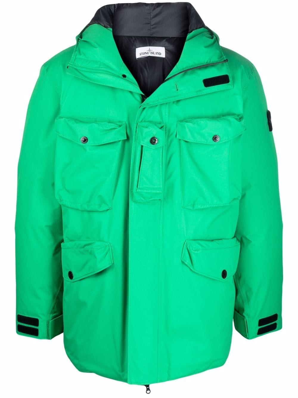 <p class='small-title'>STONE ISLAND</p>Compass-patch padded jacket