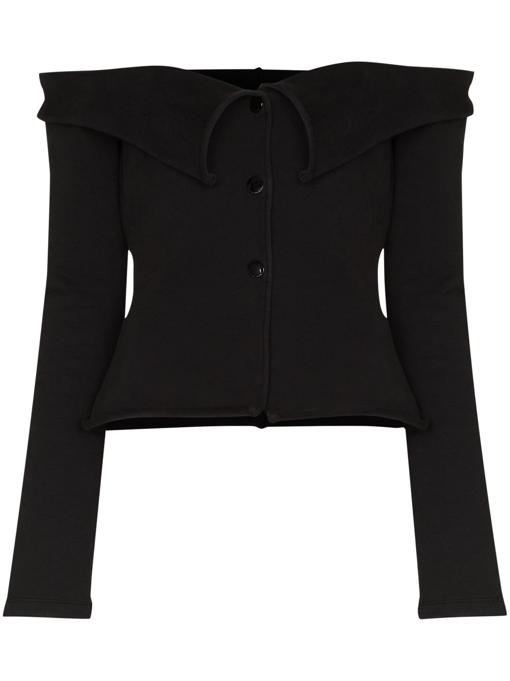 <p class='small-title'>ALEXANDER WANG</p>Off Shoulder Long Sleeves Cardigan