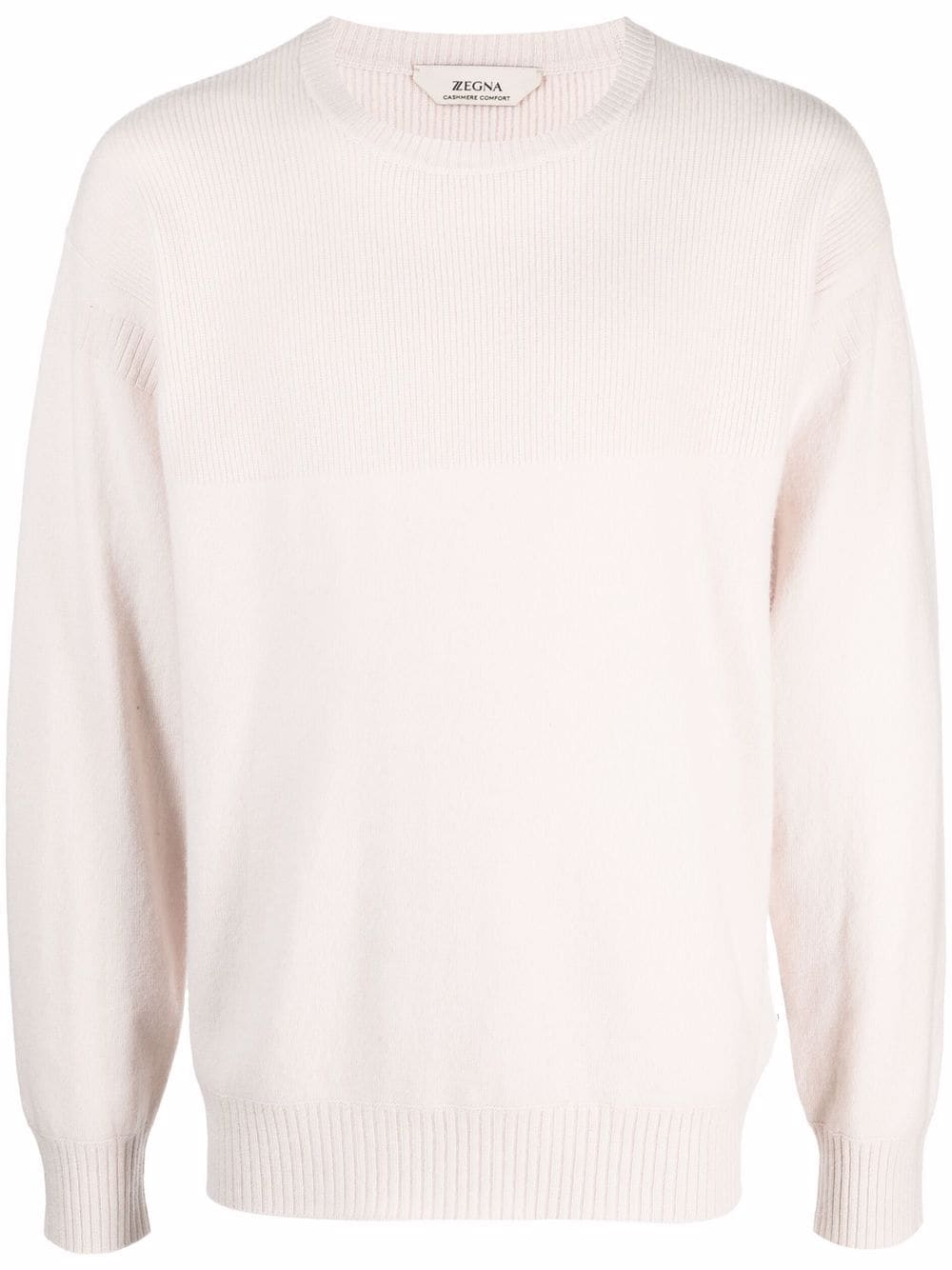 <p class='small-title'>Z ZEGNA</p>Crew-Neck Ribbed Sweater