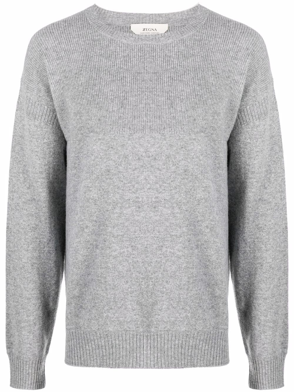 <p class='small-title'>Z ZEGNA</p>Crew Neck Ribbed Sweater