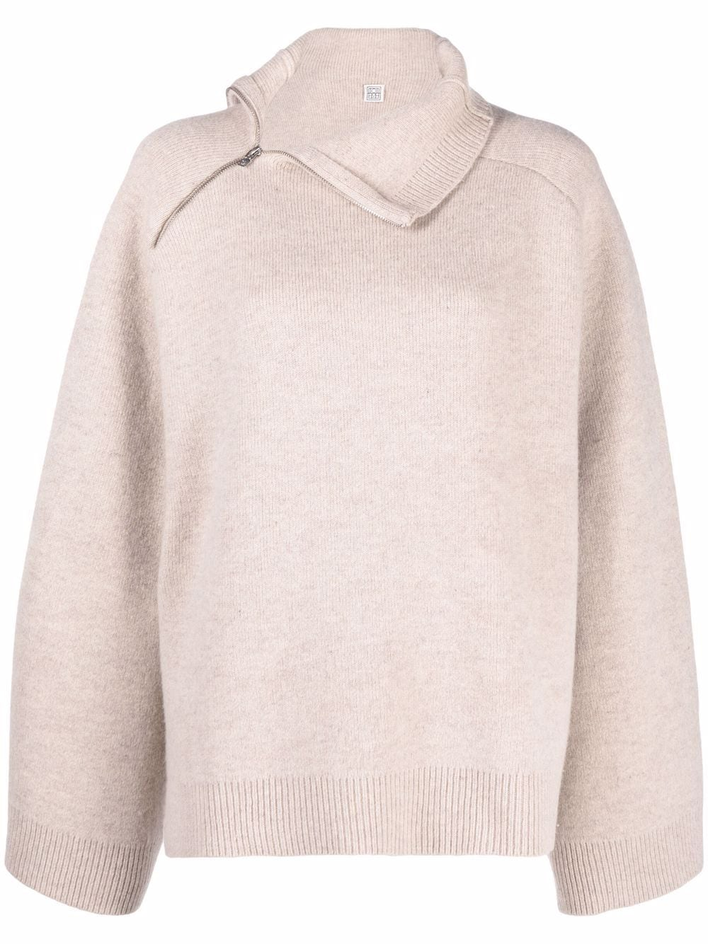 <p class='small-title'>TOTEME</p>Asymmetric Knitted Jumper
