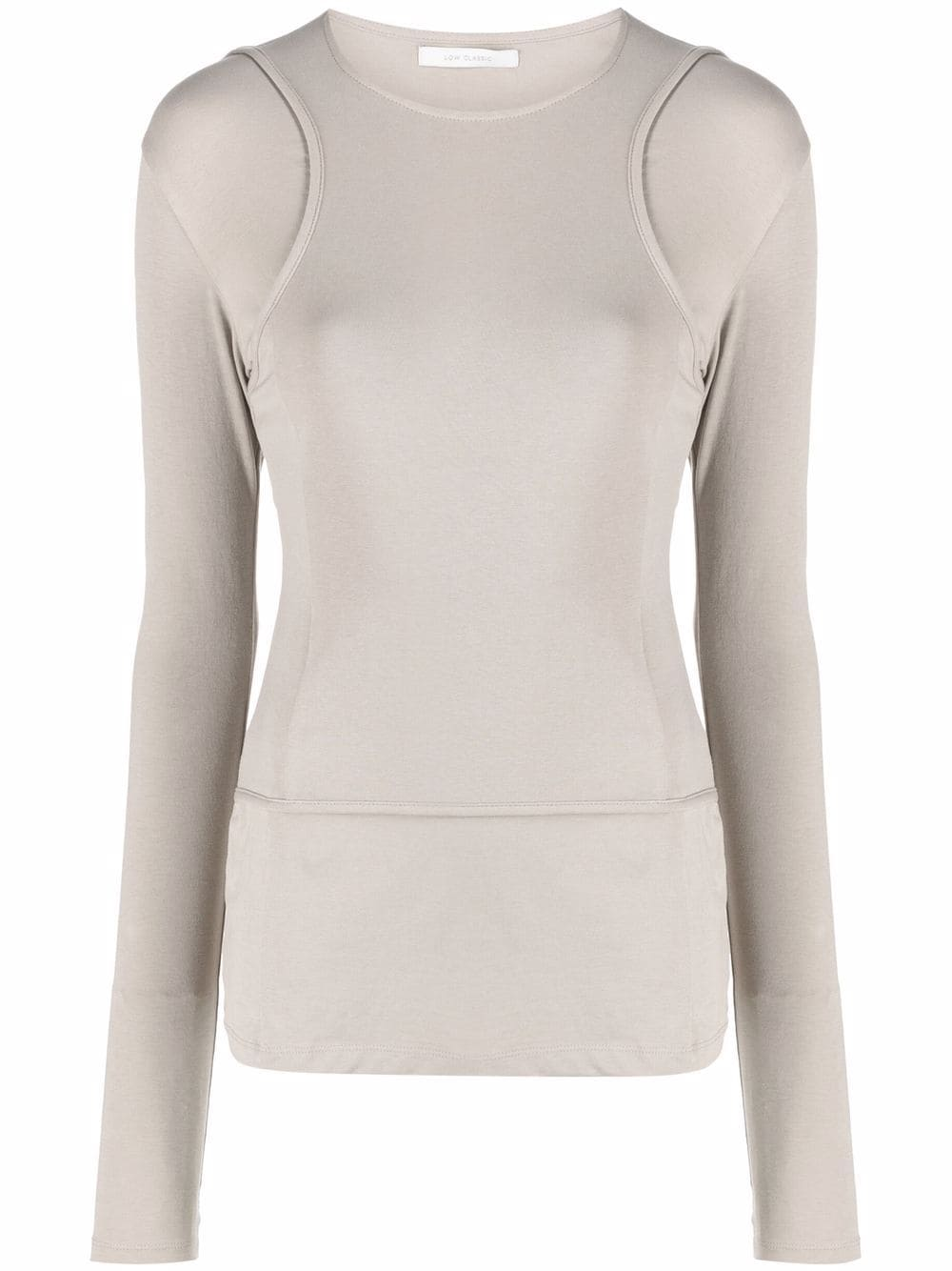 <p class='small-title'>LOW CLASSIC</p>Layered Effect Jersey Long Sleeve Top