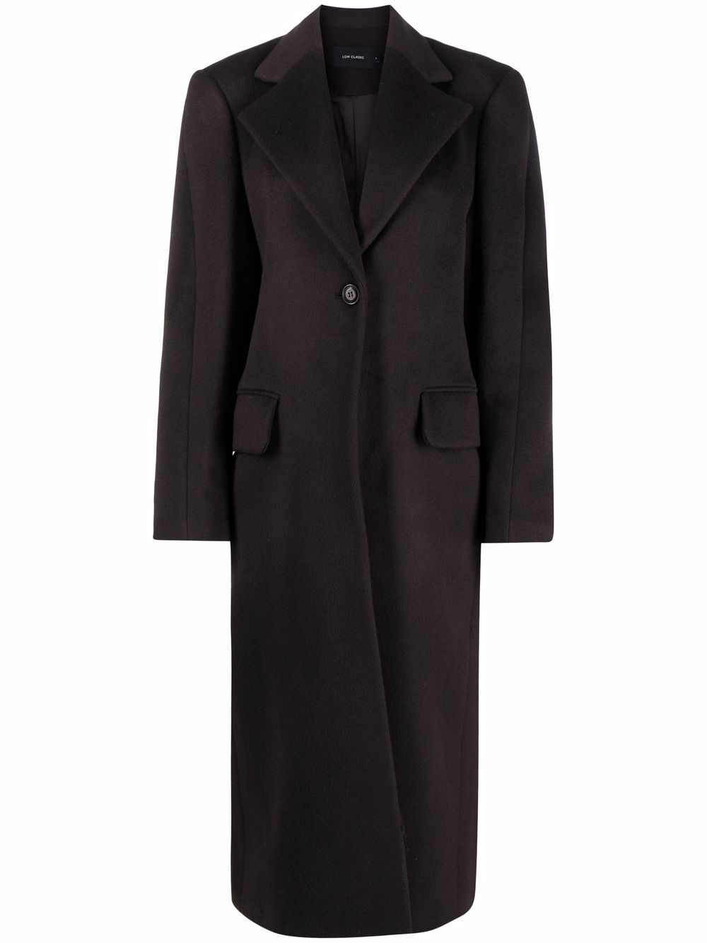 <p class='small-title'>LOW CLASSIC</p>Button-Front Long Coat