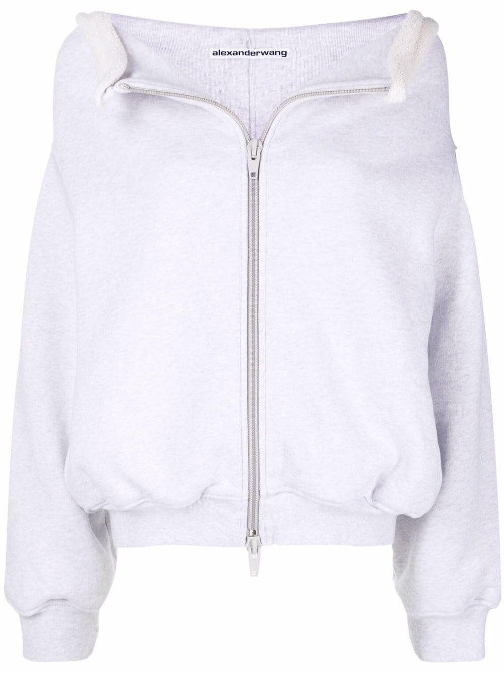 <p class='small-title'>ALEXANDER WANG</p>Floppy Collar Zip Up Jacket