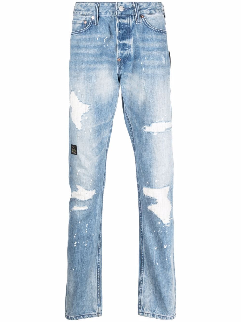 <p class='small-title'>EVISU</p>Distressed Finish Jeans