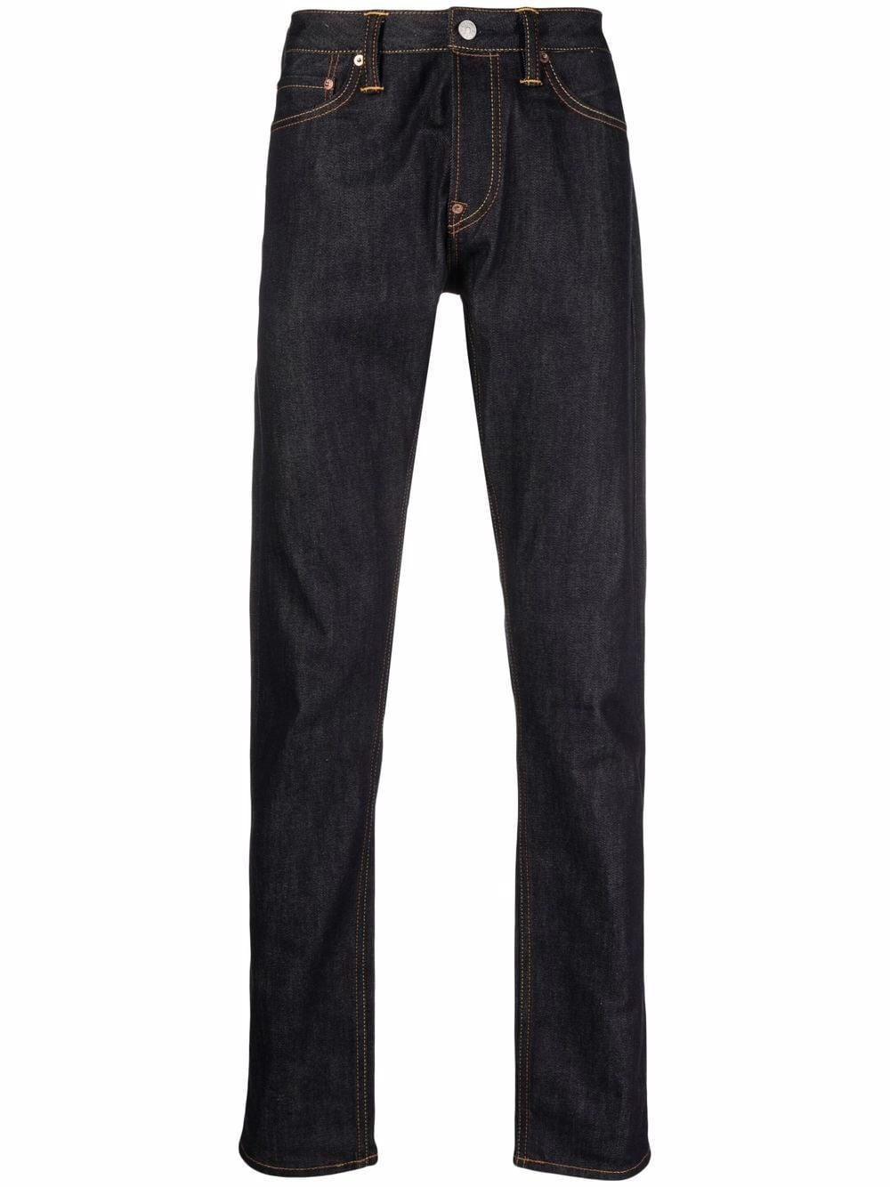 <p class='small-title'>EVISU</p>Straight Leg Jeans