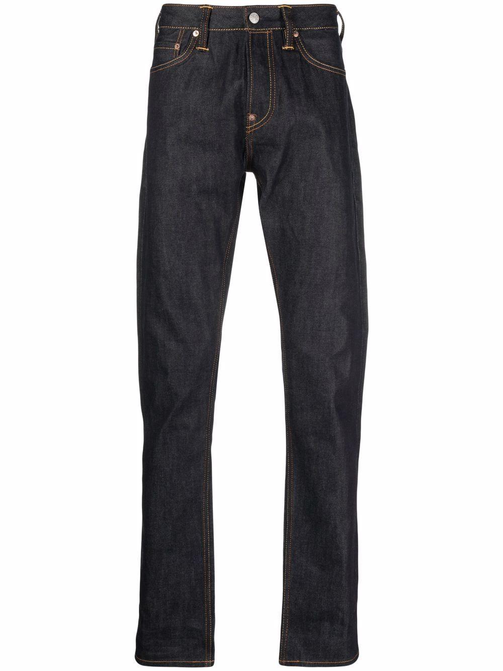 <p class='small-title'>EVISU</p>Straight Leg Seagull Jeans