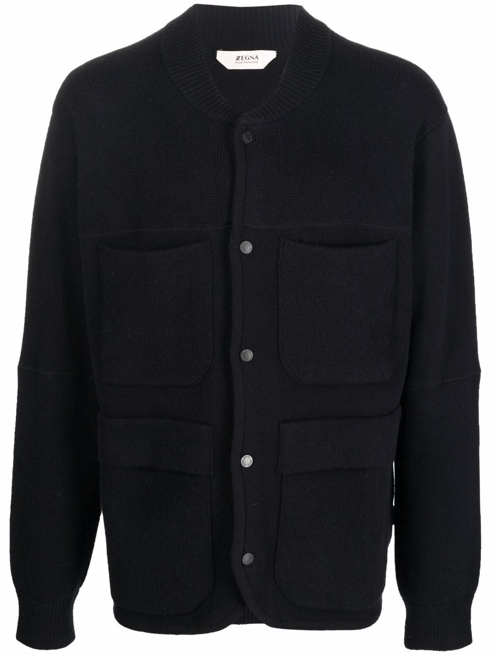 <p class='small-title'>Z ZEGNA</p>Chunky Knitted Wool Cardigan