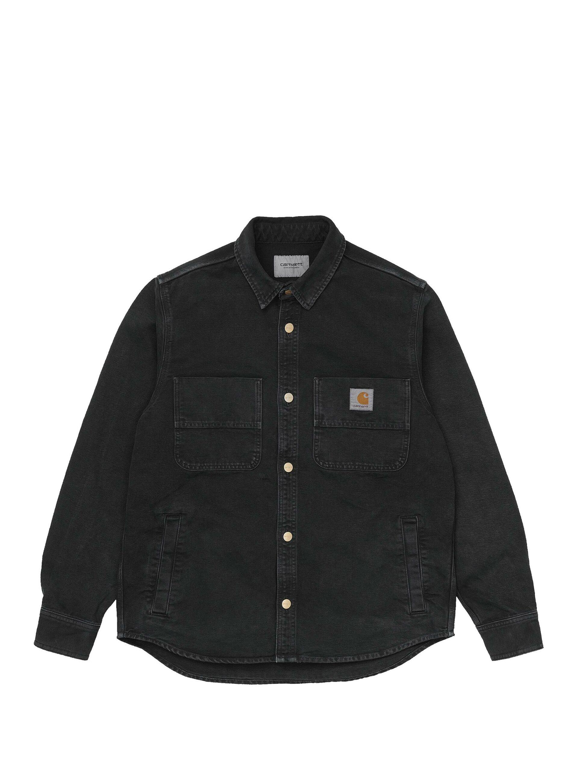 <p class='small-title'>CARHARTT WIP</p>Glenn Shirt Jacket Black Worn Canvas