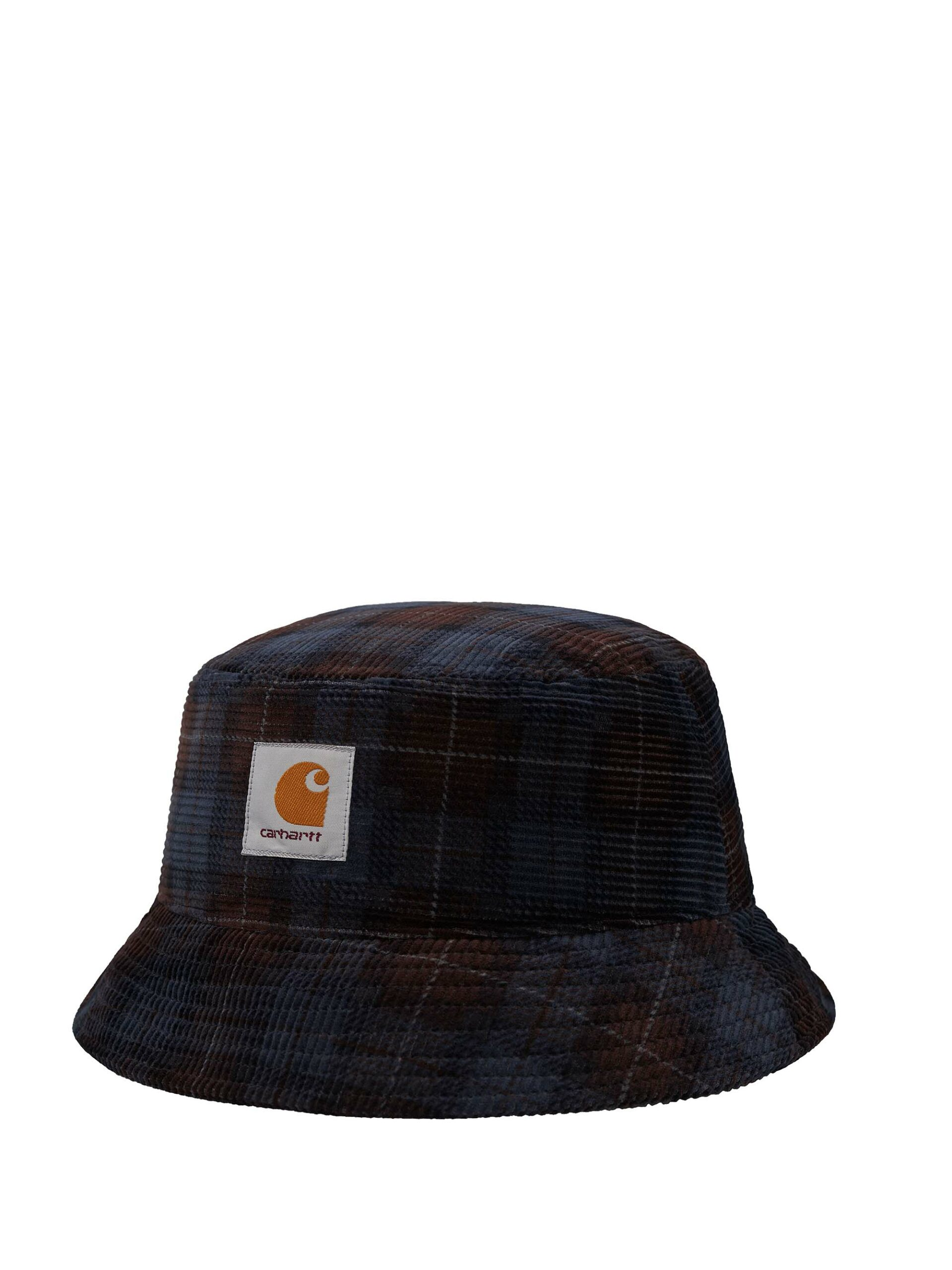 <p class='small-title'>CARHARTT WIP</p>Cord Bucket Hat Breck Check Print